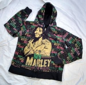 (L) Bob Marley and The Wailers Hooodie Sz 1X